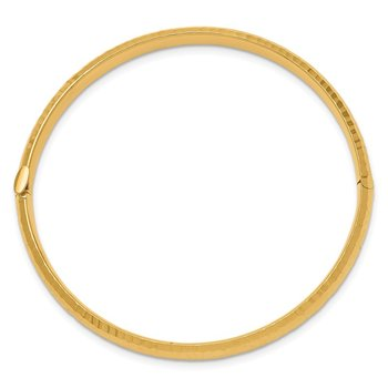 14k 3/16 Hammered Children's Hinged Bangle