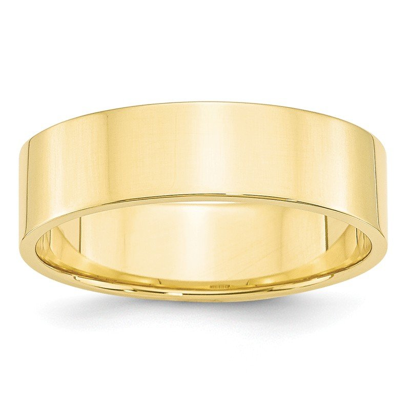 Quality Gold 10KY 6mm LTW Flat Band Size 10