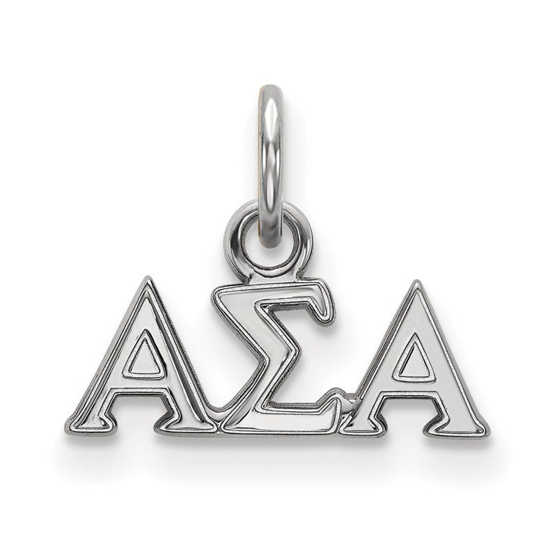 Greek Life Sterling Silver Alpha Sigma Alpha Greek Life Pendant