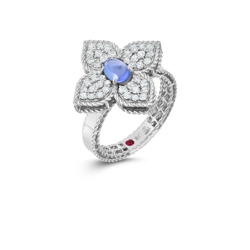 Roberto Coin 18K Diamond & Tanzanite Flower Ring