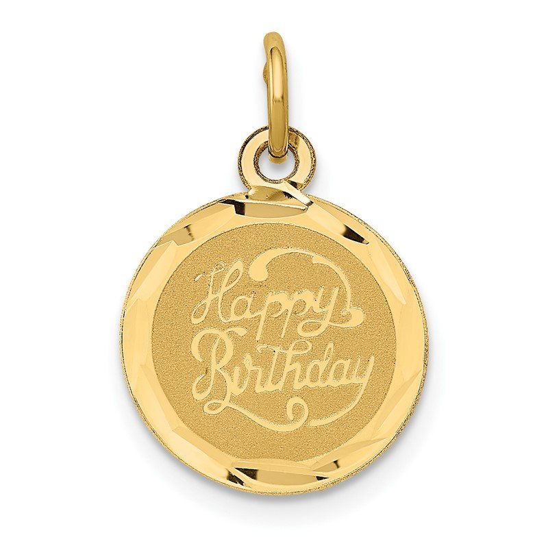 Quality Gold 14k HAPPY BIRTHDAY Disc Charm