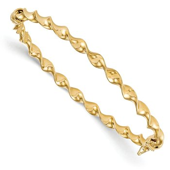 Leslie's 14K 4mmTwisted High Polished Bangle