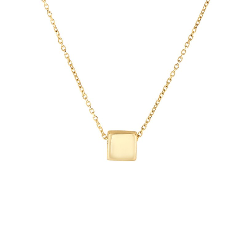 Royal Chain 14K Gold Cube Necklace