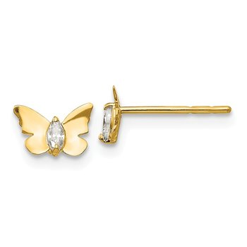 14k Madi K CZ Butterfly Baby Post Earrings
