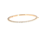 Roberto Coin 18Kt Rose Gold Classic Diamond Bangle