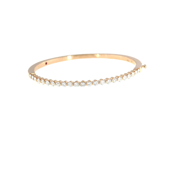 18KT ROSE GOLD CLASSIC DIAMOND BANGLE