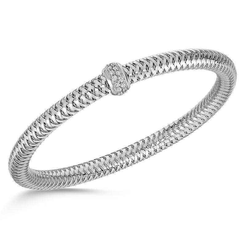 Roberto Coin  #25941 Of Flexible Bangle With Diamonds