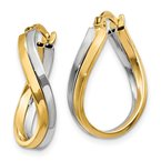 Quality Gold 14k Two-tone Polished Hoop Earrings