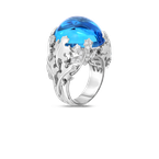 Roberto Coin 18Kt Gold Cabochon Ring With Topaz And Diamonds