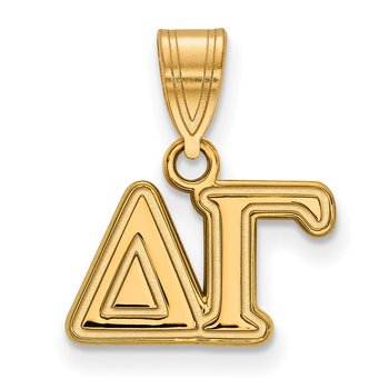 Gold-Plated Sterling Silver Delta Gamma Greek Life Pendant