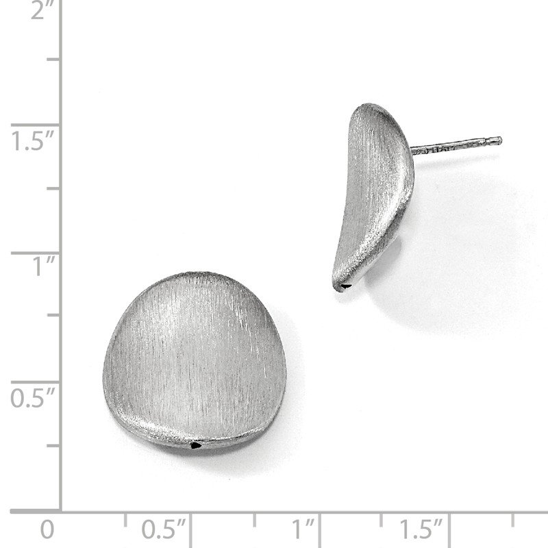 Leslie's Leslie's Sterling Silver Brushed Curved Button Post Earrings