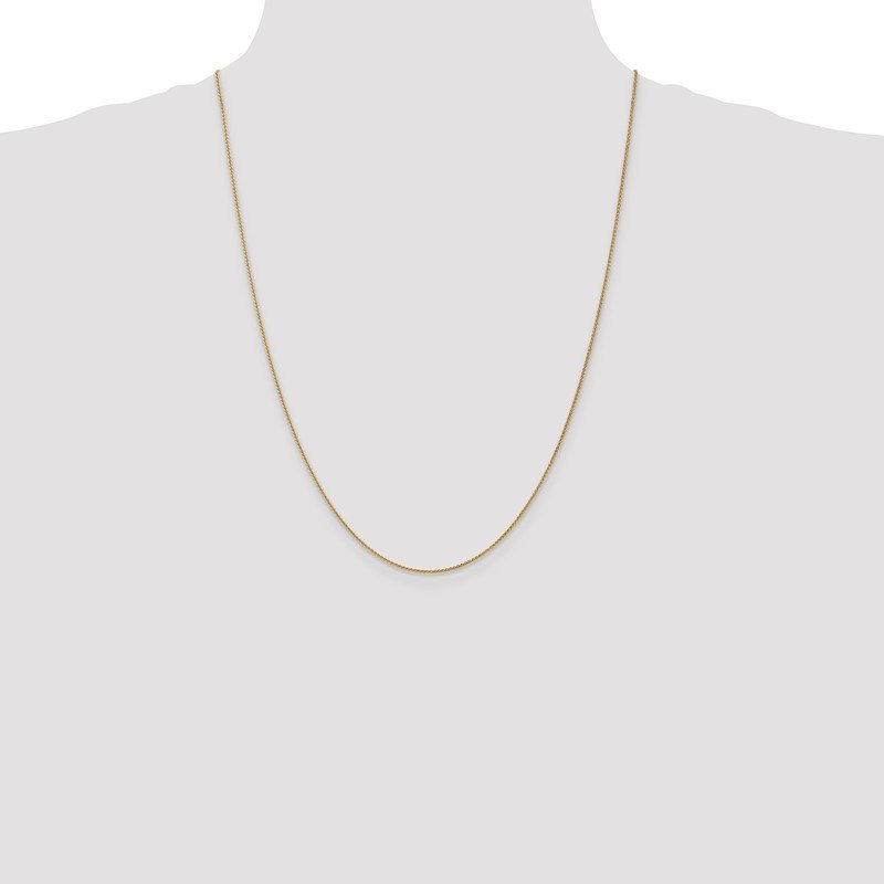 Quality Gold 14k 1mm Solid Polished Spiga Chain Anklet