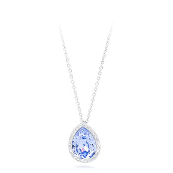316L stainless steel with drop-shaped pendant and Swarovski® Elements Provence lavender crystal.