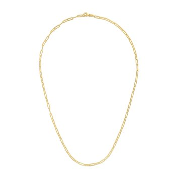 14K Gold 2.1mm Paperclip Chain