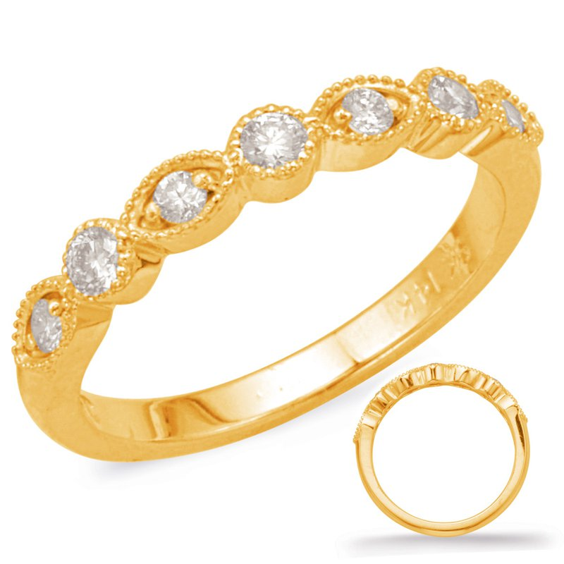 S. Kashi & Sons Bridal Yellow Gold Stackable Band