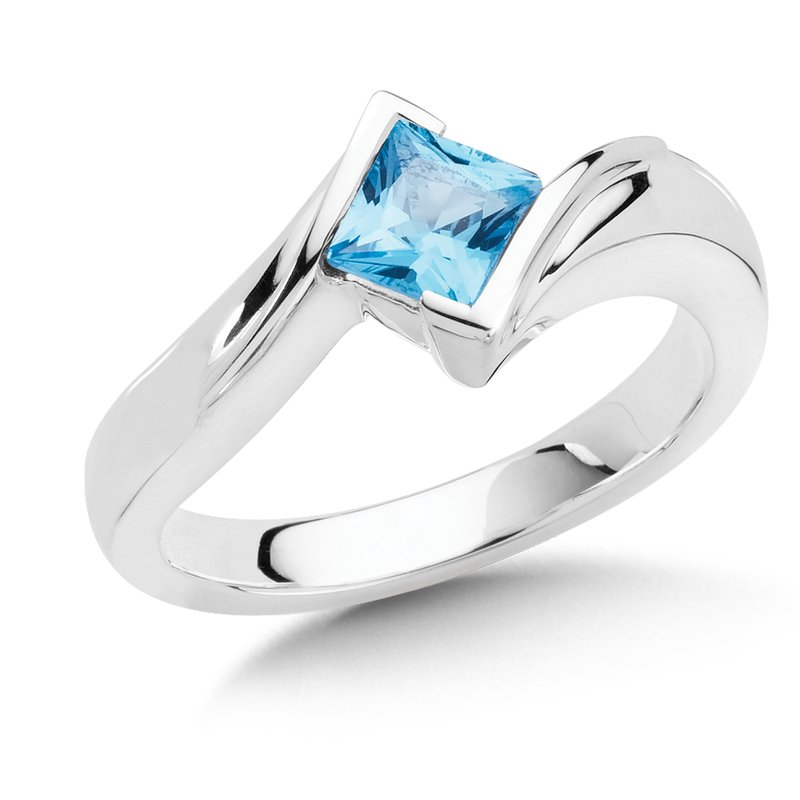 Colore Sg Sterling Silver Blue Topaz Essentials Ring