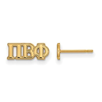 Gold-Plated Sterling Silver Pi Beta Phi Greek Life Earrings