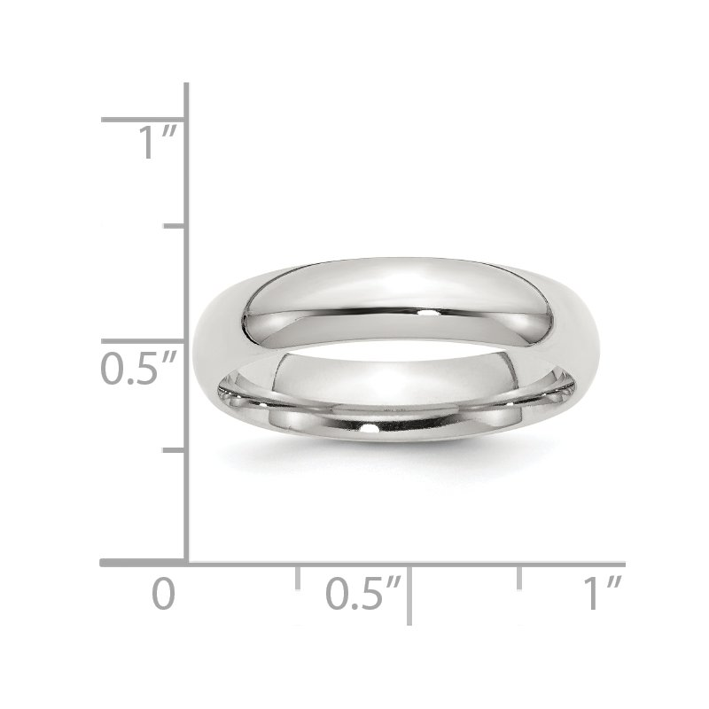 Quality Gold Sterling Silver 5mm Comfort Fit Band