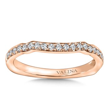 Diamond and 14K Rose Gold Wedding Ring (.23 ct. tw.)