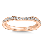 Valina Bridals Diamond and 14K Rose Gold Wedding Ring (.23 ct. tw.)