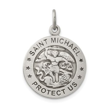 Sterling Silver Antiqued Saint Michael Air Force Medal