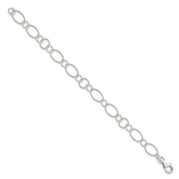 Sterling Silver Fancy Link Bracelet