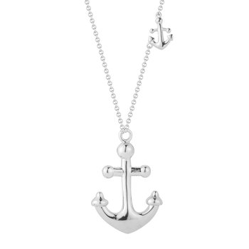 "Beautiful Sterling Silver Anchor Necklace 18"" Chain 1.5"" long by 1"" wide"