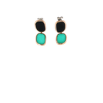 Roberto Coin 18Kt Gold Earrings With Black Jade And Green Agate