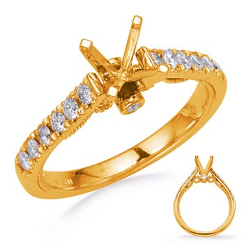 Yellow Gold Diamond Engagemond Ring