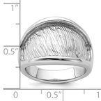 Lester Martin Online Collection Sterling Silver Rhodium-plated Textured and Polished Ring