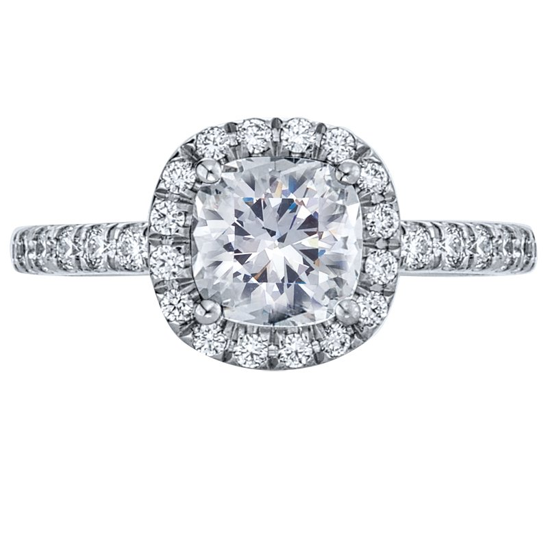 Mark Patterson Pave Set Diamond Engagement Ring