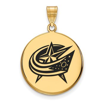 Gold-Plated Sterling Silver Columbus Blue Jackets NHL Pendant
