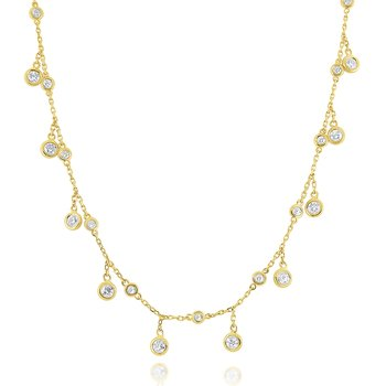 14k Gold and Diamond by the Yard Necklace
