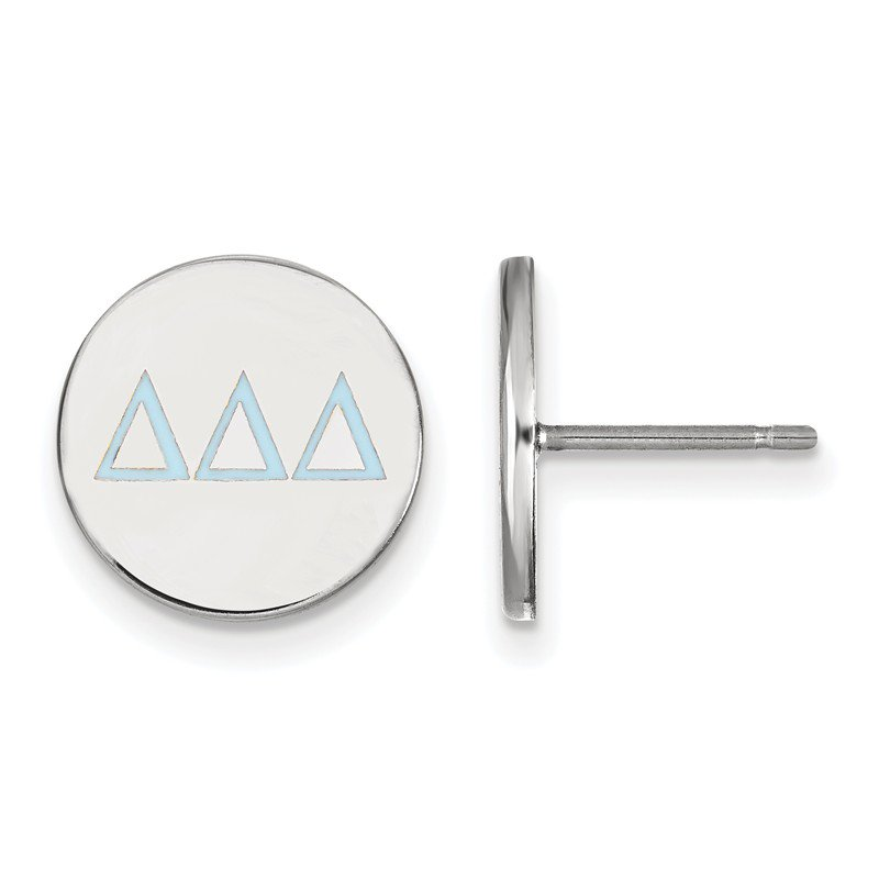 Greek Life Sterling Silver Delta Delta Delta Greek Life Earrings
