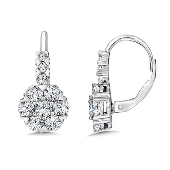 Diamond Drop Earrings in 14K White Gold (1.95 tw.)