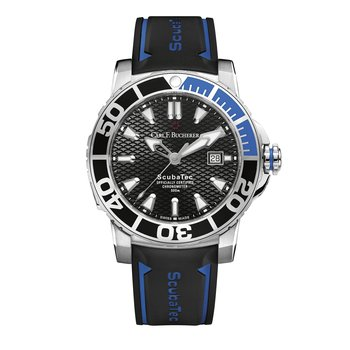Patravi ScubaTec 45mm Stainless Rubber Strap Mens Watch