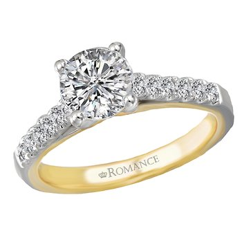 Two Tone Semi-Mount Diamond Ring