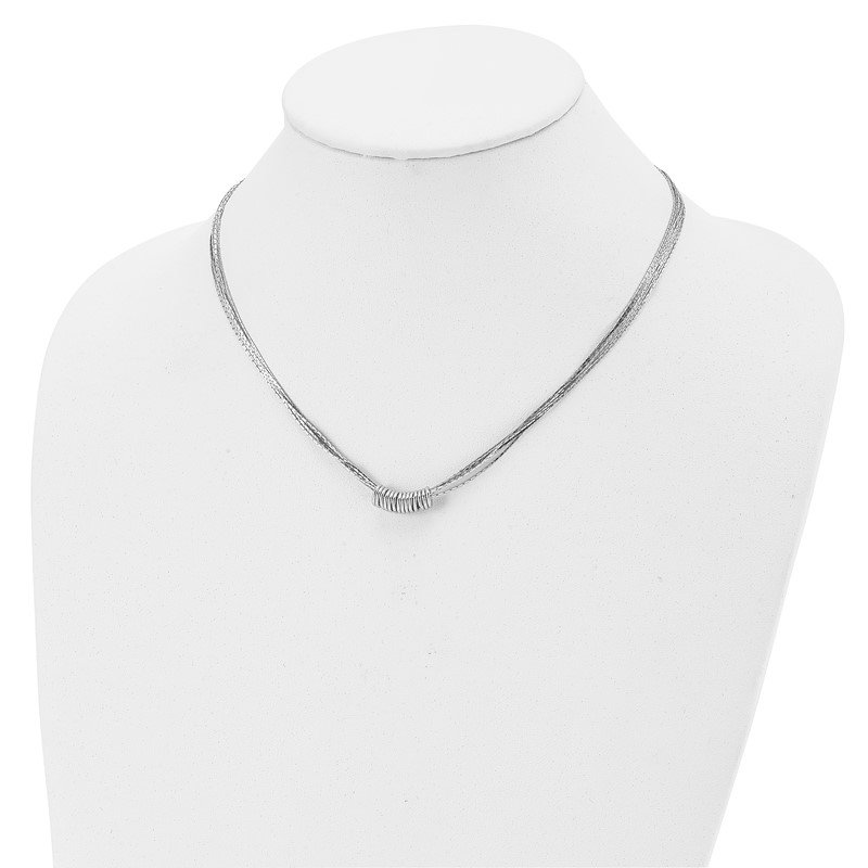 Leslie's Leslie's Sterling Silver 9 -.50 MM Multi-Strand Necklace