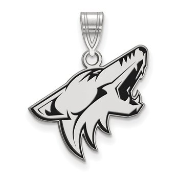 Sterling Silver Phoenix Coyotes NHL Pendant
