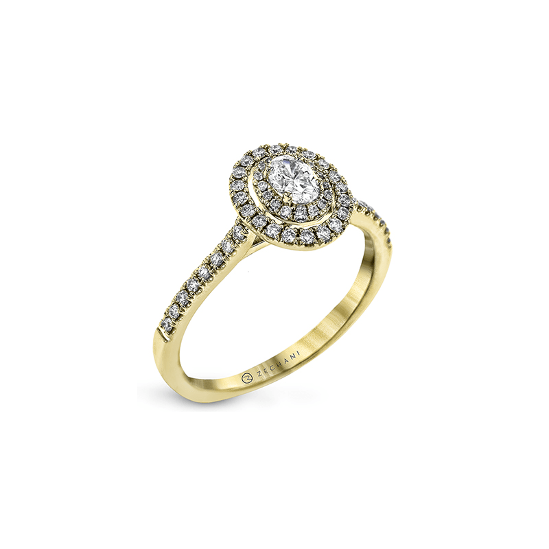 Zeghani ZR1869-Y ENGAGEMENT RING