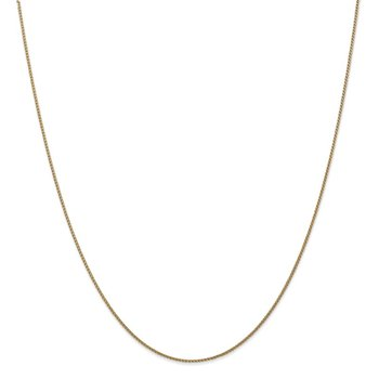 14k 1mm Solid Diamond-cut Spiga Chain Anklet