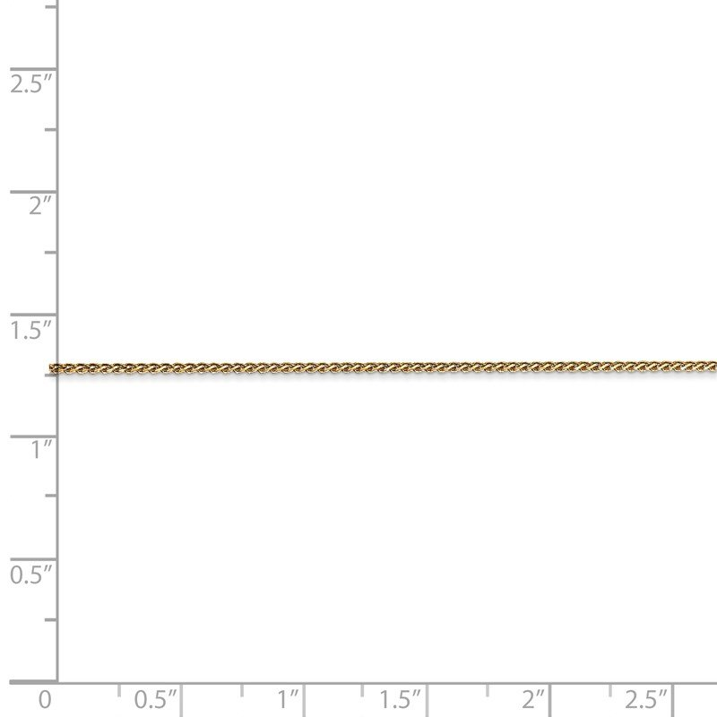 Quality Gold 14k 1mm D/C Spiga Chain Anklet