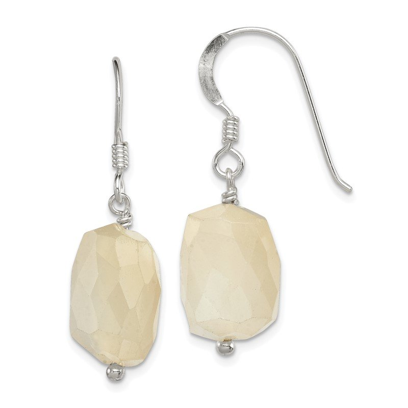 Quality Gold Sterling Silver Moonstone Earrings