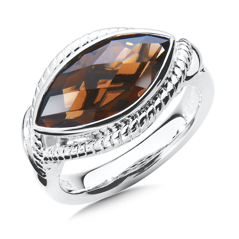 Colore Sg Sterling Silver Smoky Quartz Ring