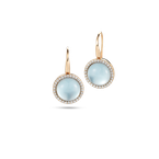 Roberto Coin Earrings With Diamonds, Topaz And Mother Of Pearl