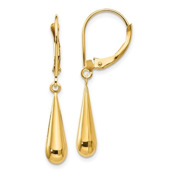 14k Madi K Teardrop Dangle Leverback Earrings