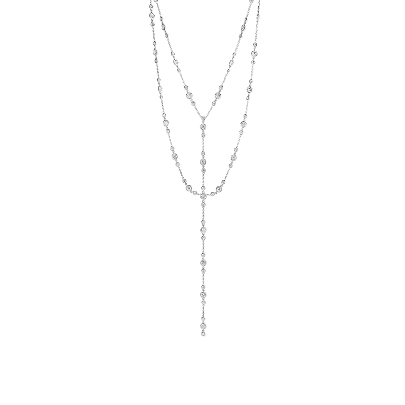 Roberto Coin Cento Double Strand Station Y Necklace