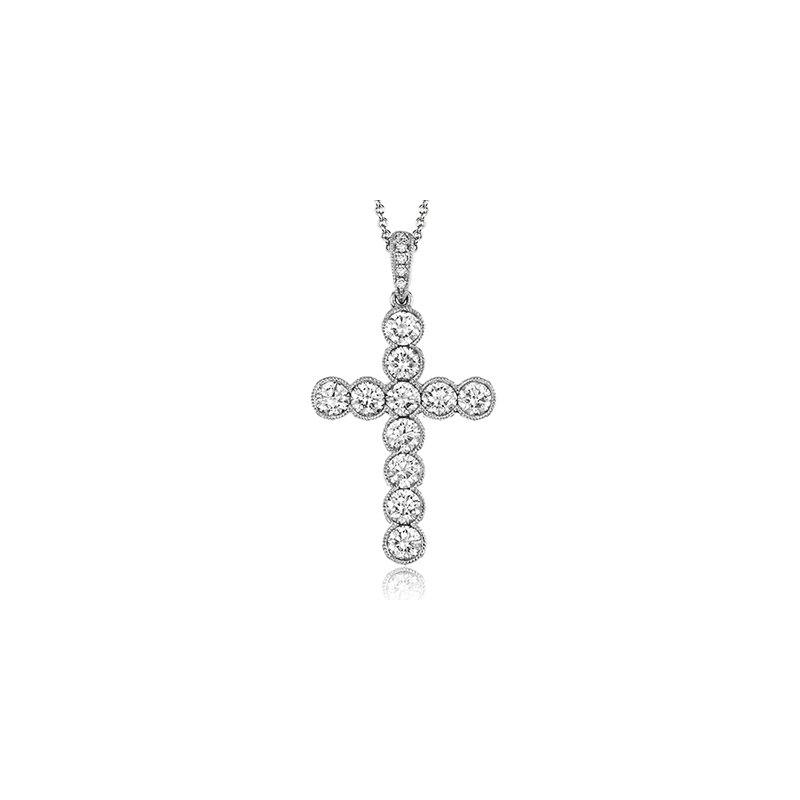 Simon G NP204 CROSS PENDANT