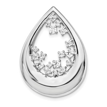 14k White Gold 1/2ct. Diamond Fancy Teardrop Pendant