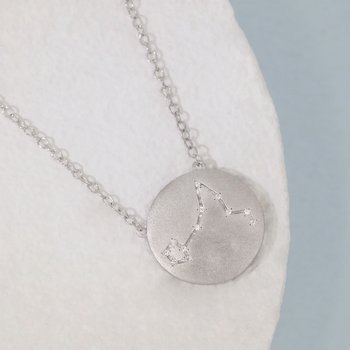 Pisces Sterling Silver Zodiac Necklace